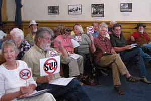 This was a meeting early in the struggle, before Storey County DA Bill Maddox banned our signs and symbols.