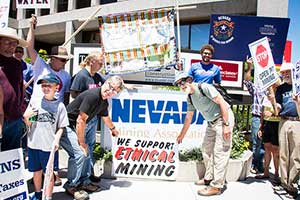The Nevada Mining Association is located conveniently across the intersection.