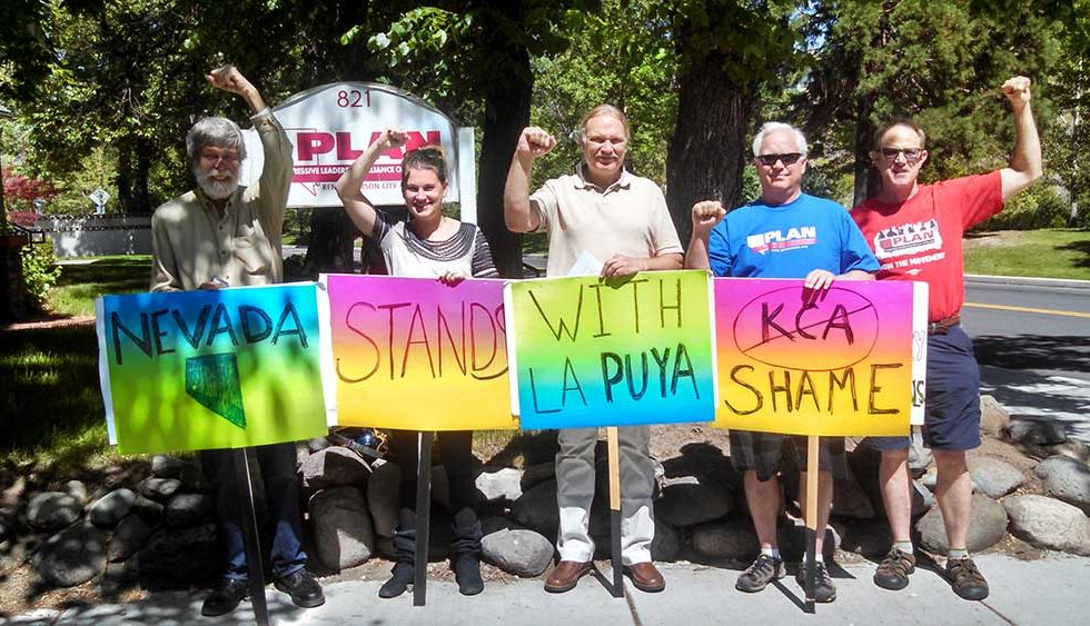 PLAN Visited Kappes, Cassiday & Associates to Protest Violent Evictions in Guatemala